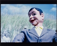 untitled dummy/beach 1 (color) by laurie simmons
