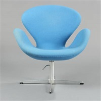 the swan, easy chair (model 3320) by arne jacobsen