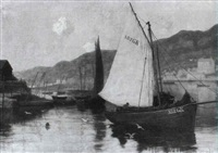 greenock harbour by walter hutcheson