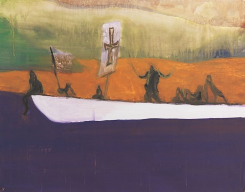 ohne titel canoe by peter doig