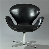 the swan easy chair (model 3320) by arne jacobsen