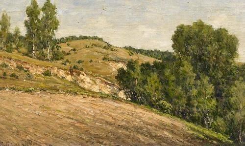 landschaftsstudie leninskie gorki by vladimir nikolaevitch aralov
