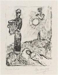 könig david by marc chagall