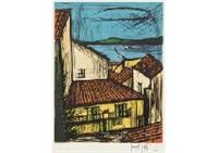 row of houses in saint-tropez by bernard buffet