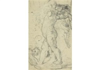 after the cupid attributed to puget by paul cézanne