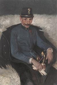 portrait eines österreichischen offiziers in uniform by stefanie wachtel