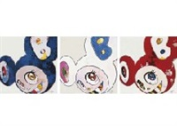 and then x6 (blue: the superflat method) (set of 6) by takashi murakami