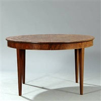 circular dining table by frits henningsen