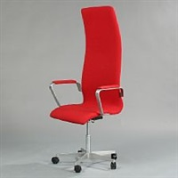 oxford highback swivel chair by arne jacobsen