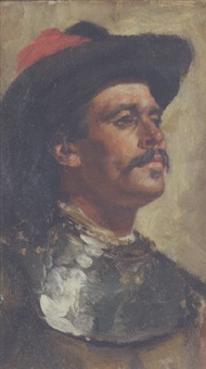 head of a cavalier by edwin arthur ward