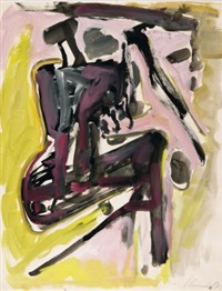 ohne titel (sitzende figur) by max kaminski