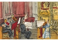 from concert des anges (set of 3) by raoul dufy