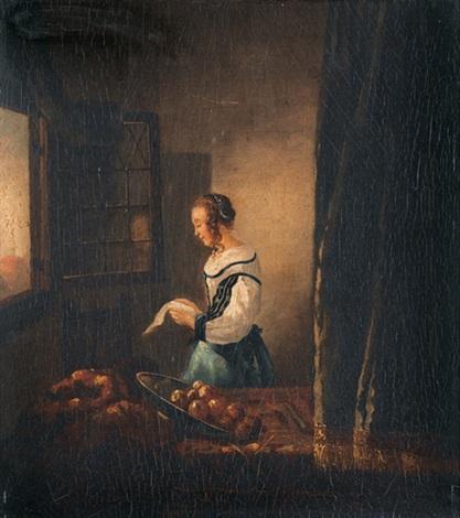 das brieflesende mädchen am offenen fenster by johannes van delft vermeer