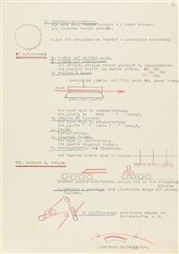 28 bll.: färberei-vortrag. 28 maschinenschriftliche seiten (28 works) by gunta stolzl
