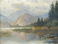 wolfgangsee mit bürglstein by alois toldt