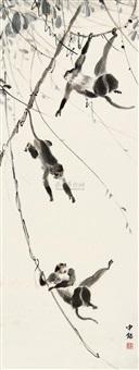 猿戏图 by liang zhongming