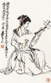 仕女 (一件) by huang zhou