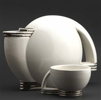 art deco teapot and cup by paul schreckengost