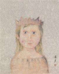戴冠饰的女孩 by zeng jianyong