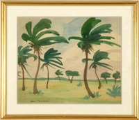 palm trees by jane peterson
