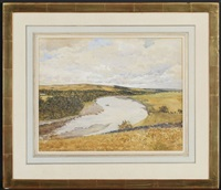 paysage de campagne avec fleuve by robert weir allan
