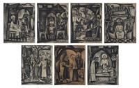 sept scènes du nouveau testament (7 works) by reimond kimpe