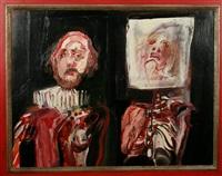 dubbelportret-zelfportret by godfried vervisch