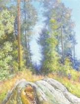 en solig dag i skogen by vassilij filippovich levi