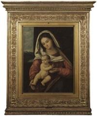 madonna das auf ihrem schoss sitzende kind haltend by marco basaiti