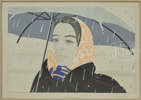 blue umbrella by alex katz