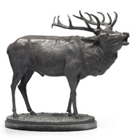 a barking stag by a. armbruster