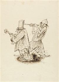 2 bll. aus der folge: mädchen im zirkus (2 works) by richard ziegler