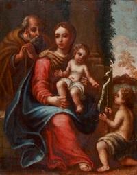 hl. familie mit johannesknaben by girolamo genga