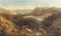 a cattle drover in the western highlands (collab. w/joseph denovan adam) by joseph adam
