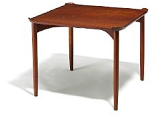 "finn juhl: ""fj 55"". a very rare games table. made by cabinetmaker niels vodder. h. 69 cm. w. 90 cm. l. 90 cm."