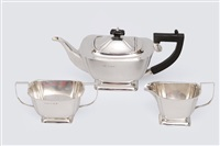 tea service (set of 3) by a.r. horder (co.)