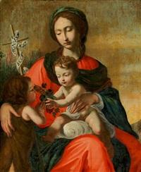 madonna mit jesusknaben und johannes dem täufer by cesare dandini