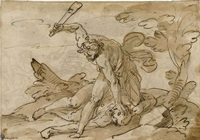 cain and abel (+ the conversion of saul, lrgr, verso) by giovanni battista paggi