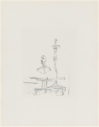 dans l'atelier (aus: paroles peintes) by alberto giacometti