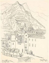 amalfi (from a sketchbook) by fritz bleyl