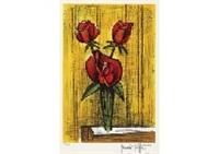 three roses by bernard buffet