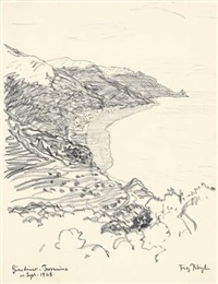 giardino taormina (from a sketchbook) by fritz bleyl