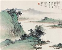 清溪烟浦 by huang junbi