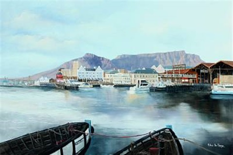 view from gordonsbay in capetown, south africa by michael albertyn
