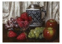 fruits and a jug by masahiko yamanaka