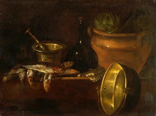 stillleben mit küchengeräten by cornelis jacobsz delff