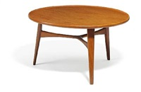 circular coffee table (model 1804) by ejnar larsen and aksel bender madsen