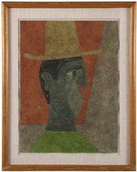 cabeza con sombrero (head with hat) by rufino tamayo
