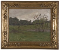 verdant french landscape by s. seymour thomas