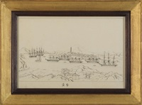 the praya grande, macao; the boca tigris on the pearl river; whampoa anchorage; the hongs at canton (set of 4 works) by youqua
